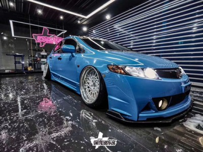 8 th Generation Blue Honda Civic Bagriders Share