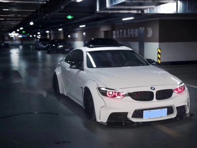 BMW's new 4 Series Gran Coupe slammed wide-body exposure