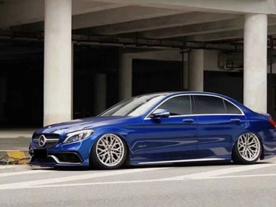 Benz w205 AirRide Kit Blue enchantress
