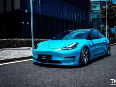 "New energy Tesla airride hellaflush""Angel blue"""