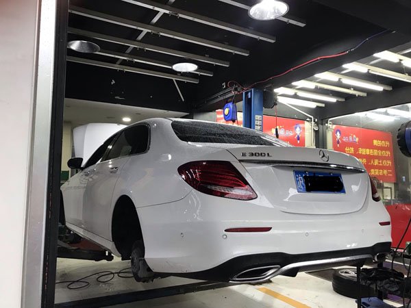 Benz w213 airride The whole process of installation